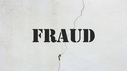 Image that says fraud